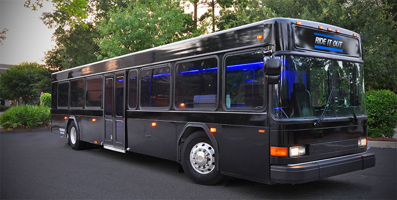 Charleston, SC Group Transportation - Ride It Out Event and Party Charter Bus